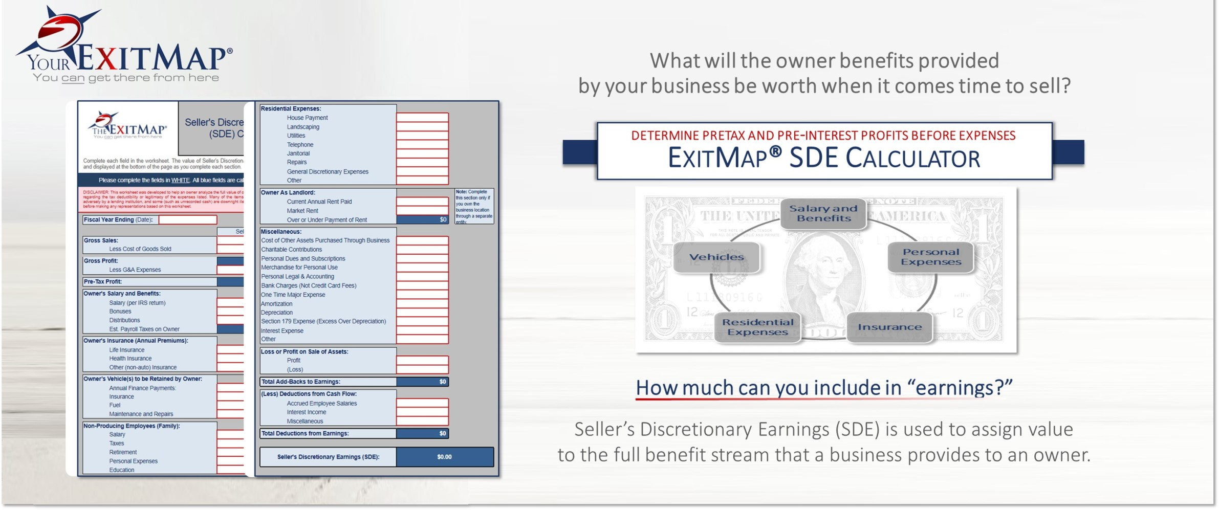 free exit planning tools for business owners your exitmap. Black Bedroom Furniture Sets. Home Design Ideas